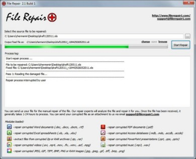 File Repair, repare e recupere arquivos danificados